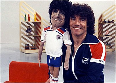 Kevin Keegan doing uhh something.